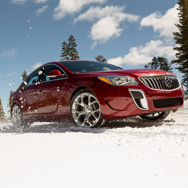 2017 Buick Regal Driving through Snow